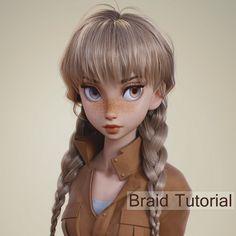 Puma  (braid tutorial), Nazar Noschenko on ArtStation at https://www.artstation.com/artwork/rmlW6