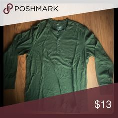 GAP Green/Olive LS Henley EUC! Worn once! Great for layering or worn by itself! GAP Shirts Tees - Long Sleeve