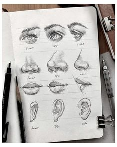 Portrait Drawing Guides and Inspiration #self #portrait #drawing #selfportraitdrawing Portraits have been a feature within art for the longest time; depicting loved ones, people of royalty and today depicting people we have created within our own minds. Every face is beautiful and seeing how different every artist draws people is incredibly inspiring.Below are a selection of guides for every part of the face and […] Read more... Art Drawings Sketches Simple, Pencil Art Drawings, Realistic Drawings, Drawing Ideas, Drawing Guide, How To Sketch Faces, How To Sketch People, People To Draw, Pencil Sketches Of Faces