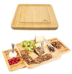 Amazon.com | Cheese Board - beautiful stainless steel cheese knife set with two serving trays as part of the charcuterie board set; Perfect as house warming presents, wedding gifts, birthday gifts: Cheese Plates Perfect Image, Perfect Photo, Love Photos, Cool Pictures, Cheese Board Set, Cheese Knife, Cheese Plates, Charcuterie Board, Serving Trays