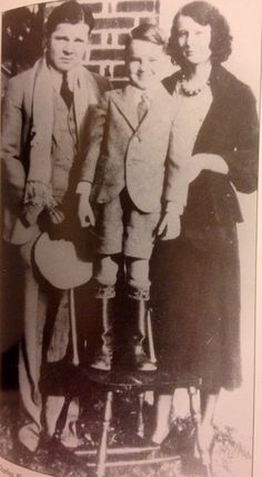 """Charles """"Pretty Boy"""" Floyd, his son Jack Dempsey (""""Jackie""""), and his ex-wife Ruby. From: The Life and Death of Pretty Boy Floyd by Jeffery S. King"""