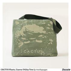 CACTUS Plants, Canvas Utility Tote