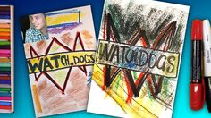 How to draw a logo WATCH DOGS / Art for Kids