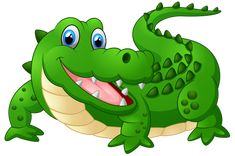 Happy Crocodile Cartoon PNG Clipart Image