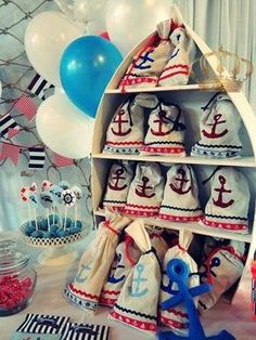 Nautical birthday party favors! See more party planning ideas at CatchMyParty.com!