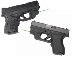 Crimson Trace GREEN Laserguard for the Springfield Armory XD-S and Glock Find our speedloader now!  http://www.amazon.com/shops/raeindModel…