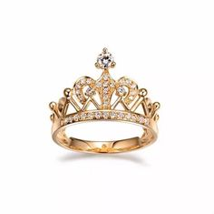 anel feminino coroa noivado compromisso ouro 18k e diamantes