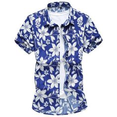 aa5bf93463f NEW Men s Summer Casual Island Fashion Short-Sleeve Shirt M-7XL 2 Colo –