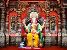 Lalbaugcha Raja Ganesh Wallpaper Download | Lalbaugcha Raja