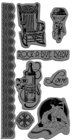 Beautiful cling stamps from Little Darlings - our new collection for CHA! #graphic45 #stamps #newcollection