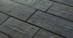 Wood Molded Concrete Pavers, Wet cast concrete Barn Plank Pavers by Silver Creek Stoneworks are molded to look like barn planks.