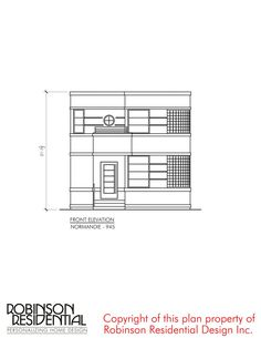 Contemporary Normandie-945 - Robinson Plans Bungalow Haus Design, Bungalow House Plans, Dream House Plans, Modern House Plans, Small House Plans, House Floor Plans, The Plan, How To Plan, Simple House Design