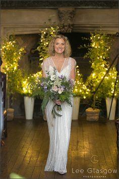 Bride walking down the isle at her highgate house wedding venue