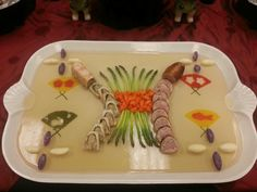 My group's aspic platter for our final presentation. Asian shrimp terrine  duck galantine.