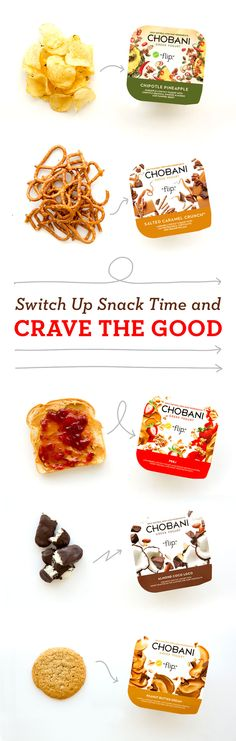 Swap out your average snack for something deliciously good. Chobani Greek Yogurt Flip makes for the perfect snack that you crave, with protein and only natural ingredients! Crave the good.