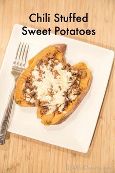 Chili Stuffed Sweet Potatoes | 5DollarDinners.com