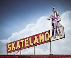 Skateland Roller Skating Rink (Shakes The Clown) Tags: california old signs sports vintage typography lights flickr neon skating illumination hobby retro entertainment signage font rink signlanguage bakersfield smugmug 500px canon5dmarkii marcshurphotographycom marcshur signgeeks