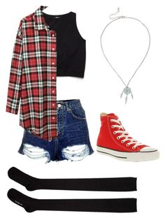 """Enjajaja"" by sammi-marie-19 ❤ liked on Polyvore featuring mode, Free People, Topshop, Hansel from Basel, R13 et Converse"