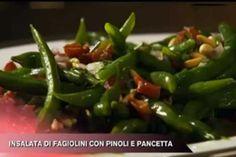Ricetta Insalata di fagiolini con pinoli e pancetta - Cucina con Buddy