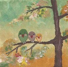Happy Bird Family