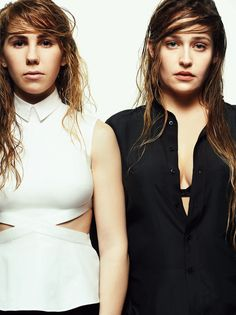 Zosia Mamet and Jemima Kirke for V Magazine