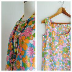 Funky mod floral shift '60s by MrsJoyful on Etsy, $28.00