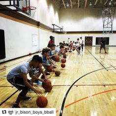 @jr_bison_boys_bball 2002s 1st practice of the #newseason