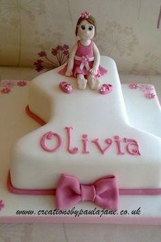 1st Birthday Cake Ideas for Girls number 1