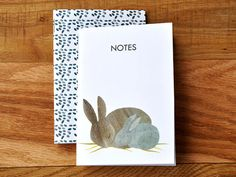 Bunny Pocket Notebook Set set of 2 3.5 x 5 48 lined by KaganByron