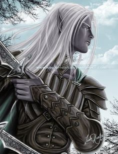 Drizzt flees the Hunter by =keelerleah on deviantART
