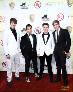 Big Time Rush when they performed for the White House