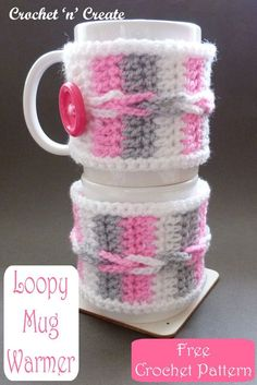 Crochet this mug warmer in an evening from my free crochet pattern on crochetncreate. Crochet Ideas, Free Crochet, Knit Crochet, Crochet Patterns, Mug Warmer, Make And Sell, How To Make, Winter Warmers, Baby Blankets