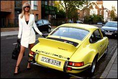 Model Harriadnie Beau Drives a 1973 Porsche Carrera in New TV Series