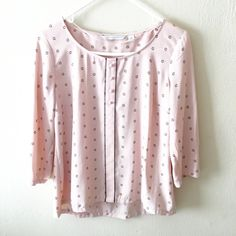Lauren Conrad blouse Really pretty pale pink blouse! Perfect for dressing up or down! Great condition. Approx 24 inches long & 19.5 inches measuring from armpit hem to armpit hem LC Lauren Conrad Tops Blouses