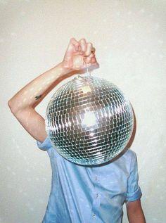 disco ball head