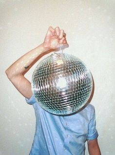 disco ball head. we can dig. #identity #face