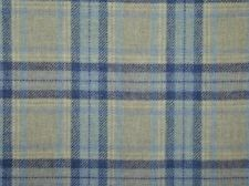 Curtain Fabric Highland Wool Tartan Navy Blue Natural Check Plaid Upholstery