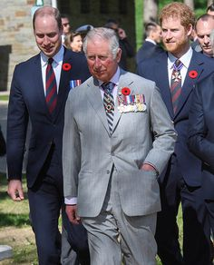 Prince William, Prince Charles and Prince Harry