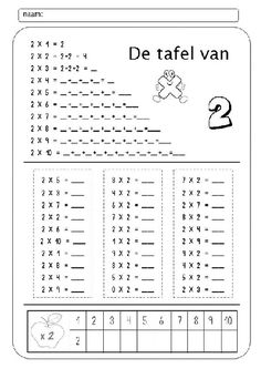 Nom: Data: 2 x 1 = 2 2 x 2 = 2 + 2 = 4 2 x 3 = 2 + 2 + 2 = 2 x 4 _ = _ + _ + _ + _ = _ 2 x 5 = _ + _ + + _ _. Math Worksheets, Math Resources, Math Activities, Teaching Tips, Teaching Math, Math Multiplication, Primary Maths, 2nd Grade Math, Arithmetic