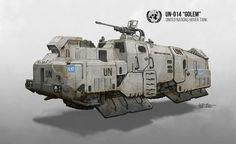 (1) ArtStation - Golem Hover Tank, Daniel Comerci | [SQUATS] Proxy Super Lourds | Pinterest