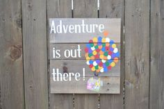 Adventure is Out There Reclaimed Wood Sign by therustysuitcase