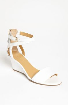869c2a65df14 Nine West  Reelymind  Sandal available at Nordstrom · White SandalsWhite  Wedge HeelsShoes SandalsShoe BootsLow ...