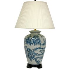"Found it at Wayfair - Chinese Landscape Oriental 29"" H Table Lamp with Empire Shade"
