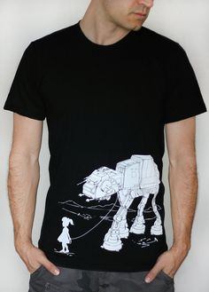 My Star Wars AT-AT Pet - American Apparel Mens tshirt  / Unisex tshirt - 2XL, 3XL ( Star Wars  shirt )