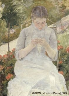 Mary Cassatt (1844-1926)Girl in the GardenBetween 1880 and 1882Oil on canvas at Musee d'Orsay