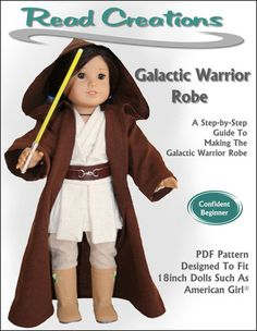 Read Creations Galactic Warrior Robe Doll Clothes Pattern 18 inch American Girl Dolls | Pixie Faire