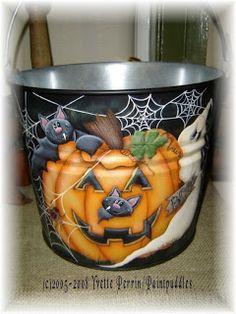 Halloween Treat Pail EPattern  $6.00  http://yvetteperrinpaintpuddles.blogspot.ca/
