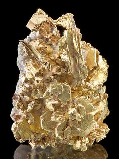 Superbly crystallized Gold var. Electrum specimen :: From the Round Mountain Mine, Round Mountain District, Nye County, Nevada.