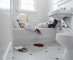 Astronaut suicide photographs by Neil DaCosta. More on ignant.de...