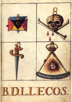"""Credited as """"Mutus Liber Latomorum,"""" 1765 ca. Traditional Tattoo Sketches, Medieval, Masonic Art, Esoteric Art, Macabre Art, Occult Art, Painting Collage, Book Of Hours, Ancient Mysteries"""